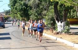 Competidores durante a Meia Maratona do Tocantins - Sejuves