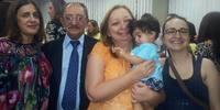 PGE Rosanna Medeiros com a família.