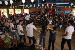 Brincadeiras e descontração no lançamento do Carnaval do Bem em Araguaína