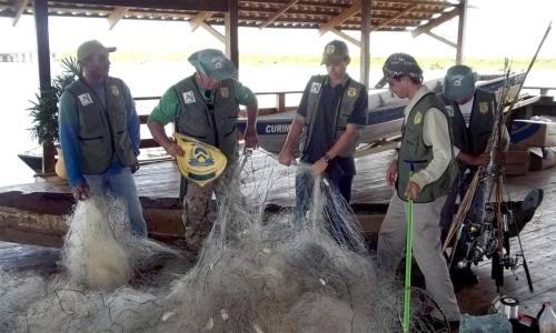 Até essa quinta-feira, o Naturatins identificou que mais de 8 mil metros de redes foram apreendidas nos rios e lagos do Estado