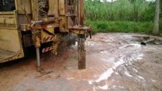 Empresa contratada pela ATS durante a perfuração de poço artesiano em Piraquê