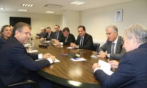 O governador Marcelo Miranda e o presidente da Infraero, Antônio Gustavo do Vale, tiveram reunião nesta quarta-feira