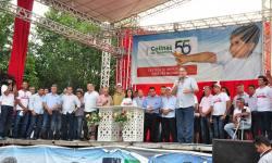 Solenidade foi marcada pelo anúncio de obras importantes ao município de Colinas