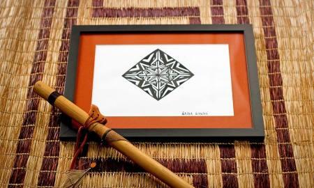 Os desenhos tem inspiração no grafismo karajá
