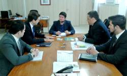 Superintendente de Juventude no Tocantins, Ricardo Ribeirinha, em reunião com o Secretário Nacional de Juventude, Gabriel Medina
