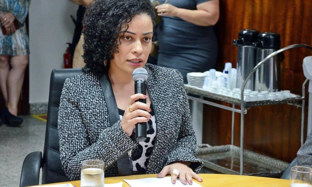 Secretária de Defesa e Proteção Social Gleidy Braga ressaltou fortalecimento das estruturas de gestão (Foto: Carlos Eller / Secom)