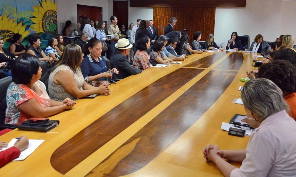 Audiência pública reuniu representantes do Governo e da sociedade civil (Foto: Carlos Eller / Secom)