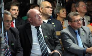 Secretário Estadual do Esporte, Salim Milhomem, durante lançamento oficial dos Jogos Mundiais Indígenas