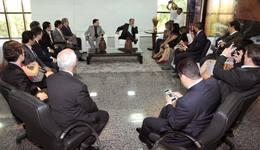 O governador recebeu corregedores gerais do Brasil em seu gabinete nesta segunda-feira