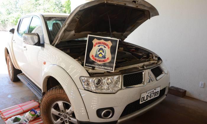 Veículo apreendido, na capital, pela policia civil