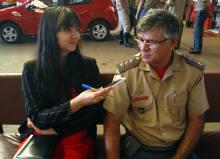 Entrevistado sobre a importância de criar laços  e se ser considerado um paizão  no trabalho.