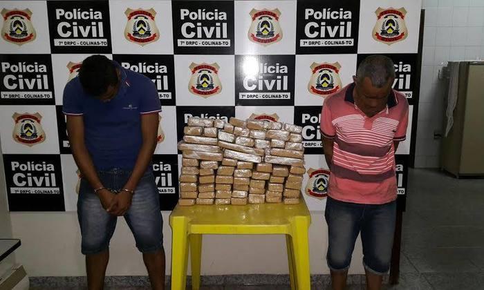 Presos em flagrante por tráfico de drogas, em Colinas do Tocantins