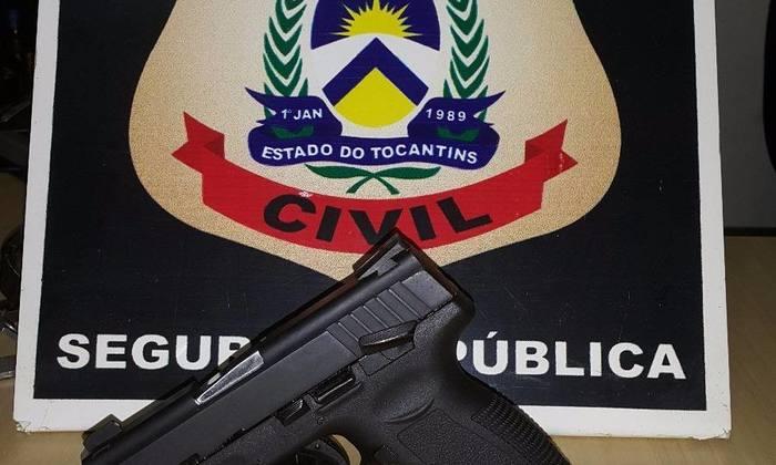 arma apreendida pela Polícia Civil em Colinas