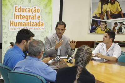 Durante a coletiva realizada na Seduc, o secretário destacou que a Secretaria tomará medidas cabíveis para acabar com a greve