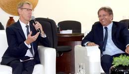 O embaixador da Bélgica no Brasil, Josef Smets, ficou surpreendido com os projetos e iniciativas do Tocantins