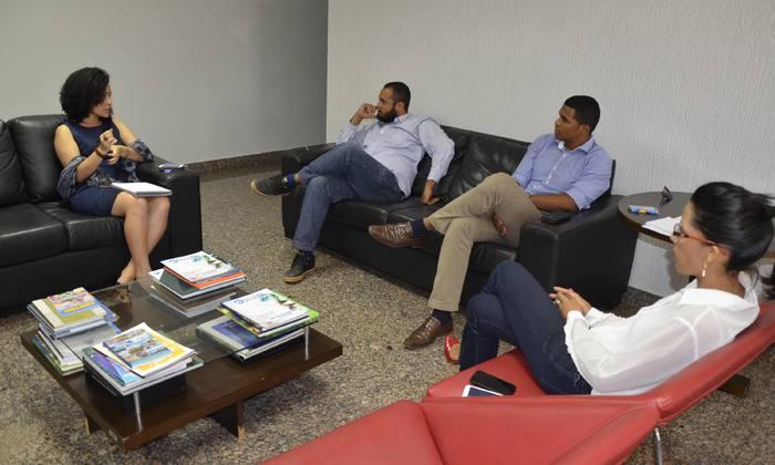Gleidy braga recebeu gestores da área de direitos humanos de Palmas