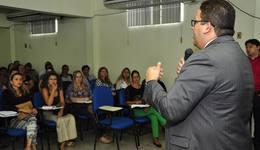 Titular da Secad, Geferson Barros, explicou o processo de recadastramento aos servidores da área de Recursos Humanos