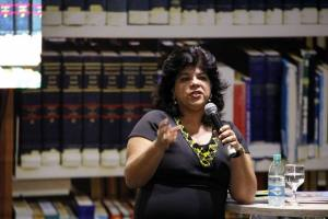 Durante a palestra, Gisele Gama Andrade abordou pontos sobre a temática infantil