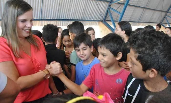 A vice-governadora participou do evento e deixou uma mensagem às crianças de todo o Estado