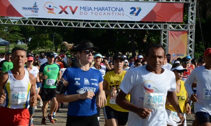 Largada da XV Meia Maratona do Tocantins