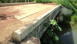 Ponte na zona rural de Caseara, trecho D, Km 11, entre Projeto Assentamento União e Projeto Assentamento Birtirana