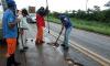 Agetoc realiza operação tapa-buracos, roçagem e vários outros serviços de manutenção em rodovias de todas as regiões do Estado