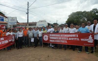 Ação conjunta ente Governo do Estado e Prefeitura Municipal de Miracema mobilizou servidores e a população local