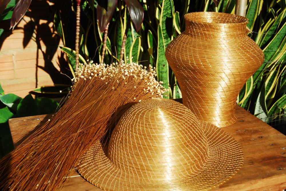 Artesanato Com Papel Mache ~ Artesanato em Capim Dourado Turismo Tocantins