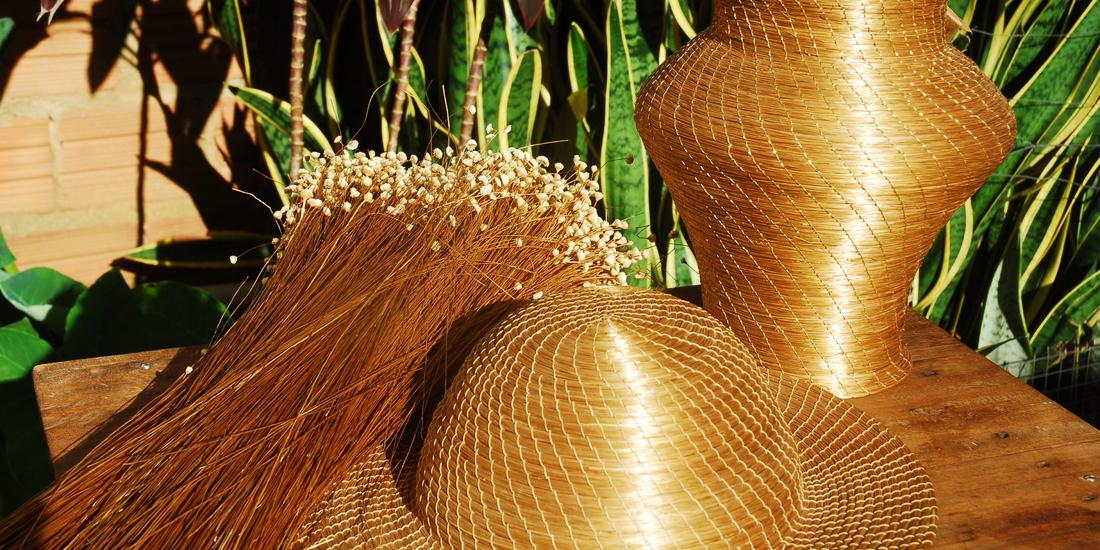 Artesanato em Capim Dourado