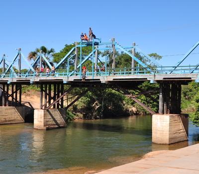 Ponte de madeira da cidade de Ponte Alta