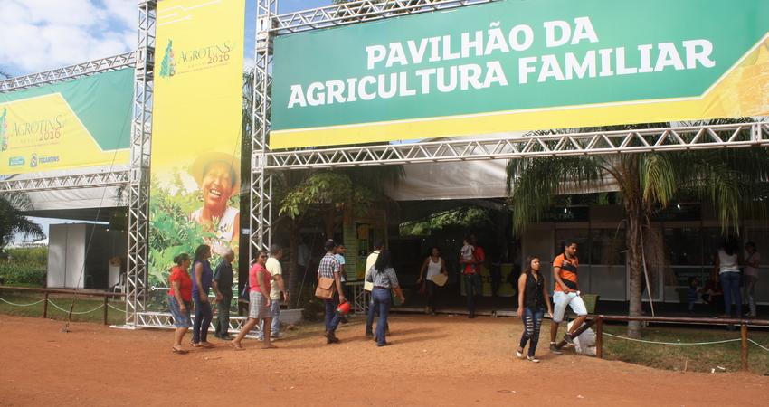 movimentação econômica regional da agricultura familiar, com a realização da Agrotins, foi de aproximadamente R$ 485 mil