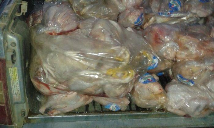 Apreensão de frangos em Combinado