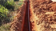 Até agora foram executados 59.590 metros de Rede de Extensão de Água - (RDA) e 42.710 metros, não executados, mas já com ordem de serviço emitida