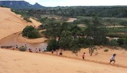 No período de 1º a 17 de julho deste ano, as dunas receberam 1.388 visitantes de diversos, além de turistas da Bélgica e dos Estados Unidos