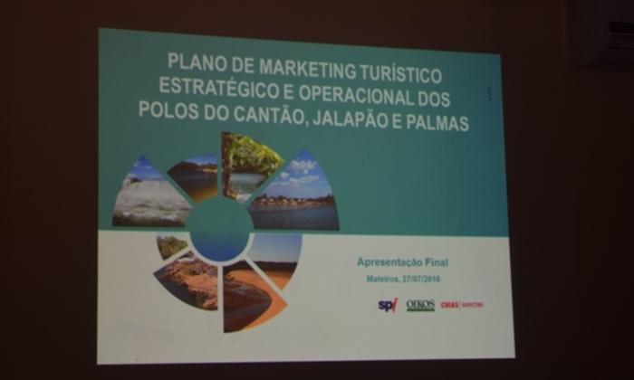 Apresentação do Plano de marketing para o turismo do Cantão, Jalapão e Palmas
