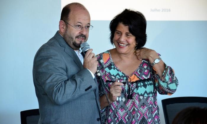 Secretário Marcos Musafir agradeceu disponibilidade da pesquisadora Glória Teixeira em compartilhar seu conhecimento com técnicos do Tocantins