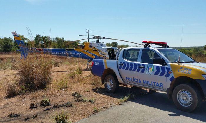 PM reforça segurança no sul do Tocantins com patrulhamento aéreo.