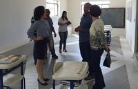 Gleidy Braga e autoridades visitaram salas de aula que também receberam melhorias