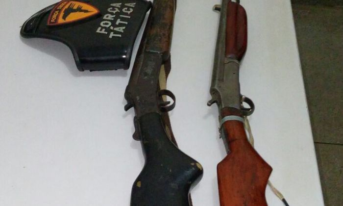 Armas apreendidas em Porto Nacional.