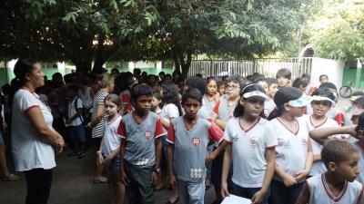 Em Gurupi, alunos do Centro Educacional Fé e Alegria participaram de ato cívico