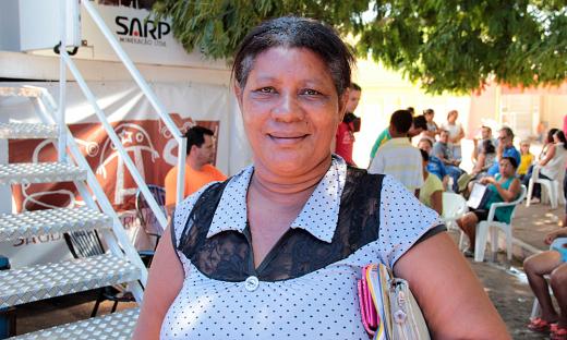 Moradora da zona rural de Ponte Alta, dona Maria Ferreira de Sousa, lavradora, aproveitou a oportunidade para fazer o exame de prevenção do HPV