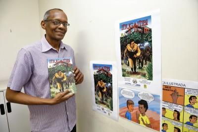 O quadrinista também é autor das HQs Liga do Cerrado e Viagem ao Centro da Gramática