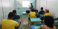 Aula na Escola Nova Geração, dentro da CPPP.