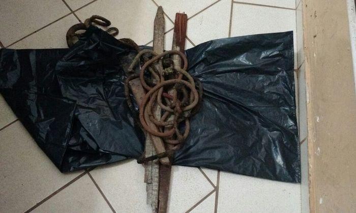 Objetos apreendidos pela PM em Gurupi com acusado de homicídio.
