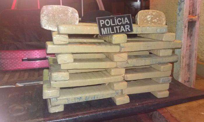 Drogas apreendidas na rodoviária em Araguaína