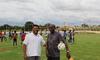 Gerente da unidade Carlos Ricardo e o professor Giba