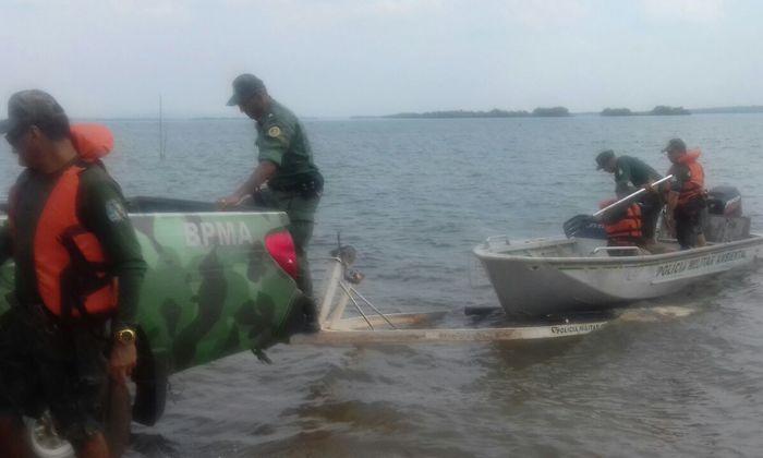 PM faz operação e detém pescadores ilegais.