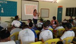Participaram da palestra alunos e funcionários da Apae,  pais e curadores de alunos