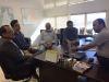Prefeito eleito Yaporan da Fonseca Milhomem e equipe de assessores em reunião com Eder Fernandes e o assessor jurídico da ATS, Massaru Okada