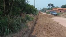Dentre os investimentos da ATS no município, está a extensão de rede de abastecimento de água
